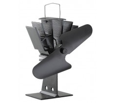Heat Powered Stove Fan Fireside Collection Black