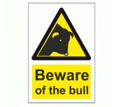 Beware Of The Bull Sign