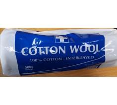 Cotton Wool 100% Cotton - Interleaved 500g