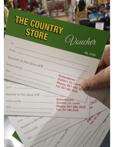 Vouchers Available from Deeside Country Store