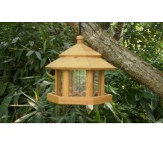 Wooden Gazebo Bird Seed Feeder
