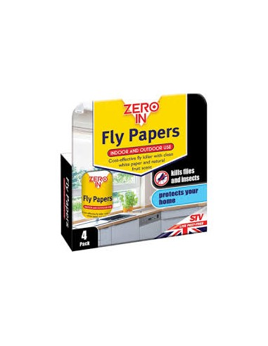 Fly Papers Indoor And Outdoor Use 4 Pack
