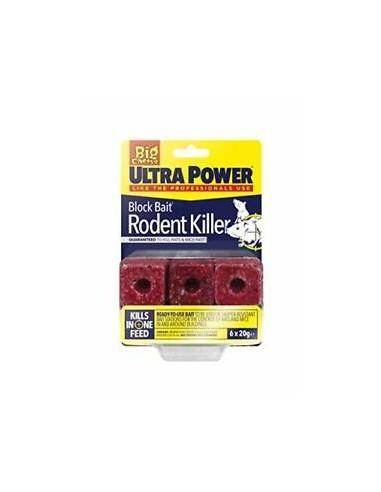 Block Bait Rodent Killer Ultra Power 6 x 20g