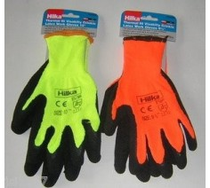 Thermal Latex Coated Gloves High Visibility Hilka 9/M & 10/L