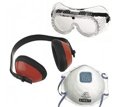 Airkit 3 Pack, Goggles, Dust Mask and Ear Defenders