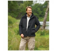 Lewis Mens Quilted Microfibre Fleece Lined Jacket
