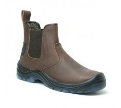 Xpert Defiant Steel Toe Safety Boots - Brown